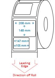 210 mm x 297 mm / 208 mm x 148 mm / 147 mm x 105 mm Roll Labels
