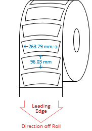 263.79 mm x 96.03 mm Roll Labels