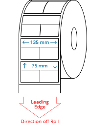 135 mm x 75 mm Roll Labels