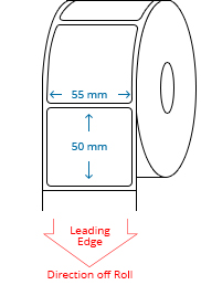 55 mm x 50 mm Roll Labels