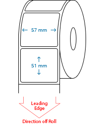 57 mm X 51 mm Roll Labels
