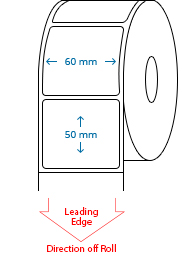 60 mm x 50 mm Roll Labels