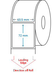 63.5 mm x 72 mm Roll Labels