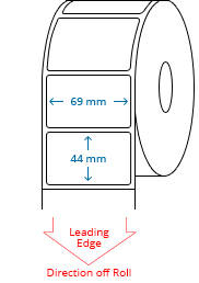 69 mm x 44 mm Roll Labels
