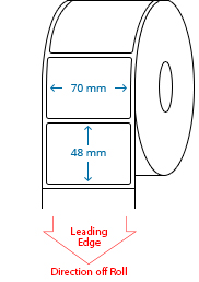 70 mm x 48 mm Roll Labels