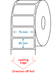 75 mm x 35 mm Roll Labels