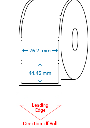 76.2 mm x 44.45 mm Roll Labels