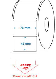 76 mm x 49 mm Roll Labels