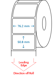76.2 mm x 50.8 mm Roll Labels