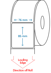 76 mm x 85 mm Roll Labels