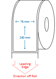 76 mm x 240 mm Roll Labels