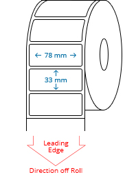 78 mm x 33 mm Roll Labels