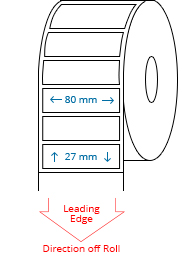 80 mm x 27 mm Roll Labels
