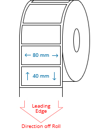 80 mm x 40 mm Roll Labels