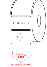80 mm x 54 mm Roll Labels