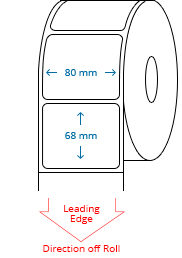 80 mm x 68 mm Roll Labels