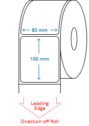 80 mm x 100 mm Roll Labels