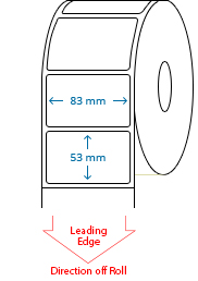 83 mm x 53 mm Roll Labels