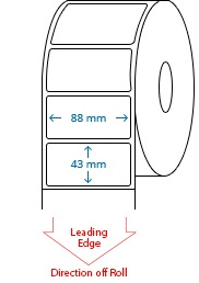 88 mm x 43 mm Roll Labels