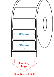 89 mm x 38 mm Roll Labels