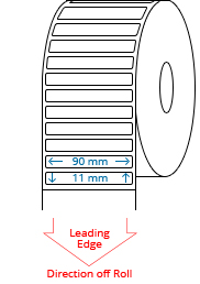 90 mm x 11 mm Roll Labels