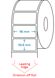 96 mm x 50.8 mm Roll Labels