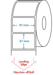 97 mm x 67 mm Roll Labels