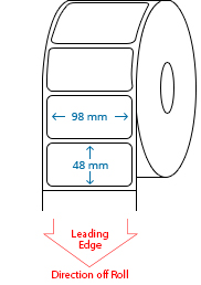 98 mm x 48 mm Roll Labels