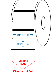 99.1 mm x 38.1 mm Roll Labels