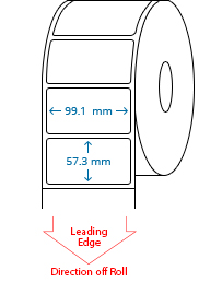 99.1 mm x 57.3 mm Roll Labels
