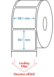 99.1 mm x 93.1 mm Roll Labels