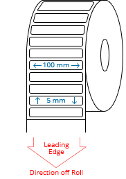 100 mm x 5 mm Roll Labels