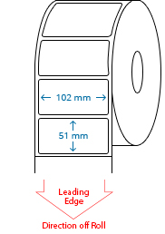 102 mm x 51 mm Roll Labels