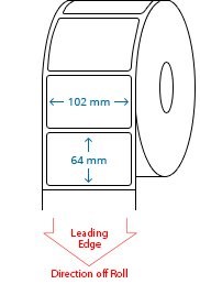 102 mm x 64 mm Roll Labels