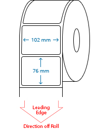 102 mm x 76 mm Roll Labels
