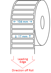 104 mm x 17 mm Roll Labels