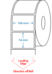 104 mm x 74 mm Roll Labels