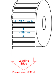 107.2 mm x 14.39 mm Roll Labels