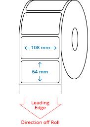 108 mm x 64 mm Roll Labels