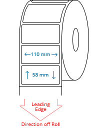 110 mm x 58 mm Roll Labels