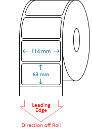 114 mm x 63 mm Roll Labels