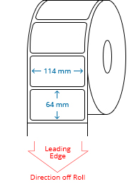 114 mm x 64 mm Roll Labels