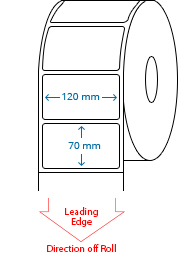 120 mm x 70 mm Roll Labels