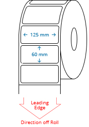 125 mm x 60 mm Roll Labels