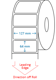 127 mm x 64 mm Roll Labels