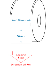 128 mm x 96 mm Roll Labels