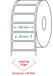 140 mm x 50 mm Roll Labels