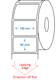 140 mm x 90 mm Roll Labels