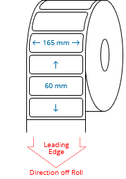 165 mm x 60 mm Roll Labels