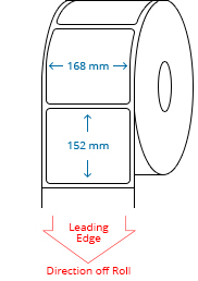 168 mm x 152 mm Roll Labels
